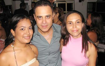 A client with beautiful Colombian women